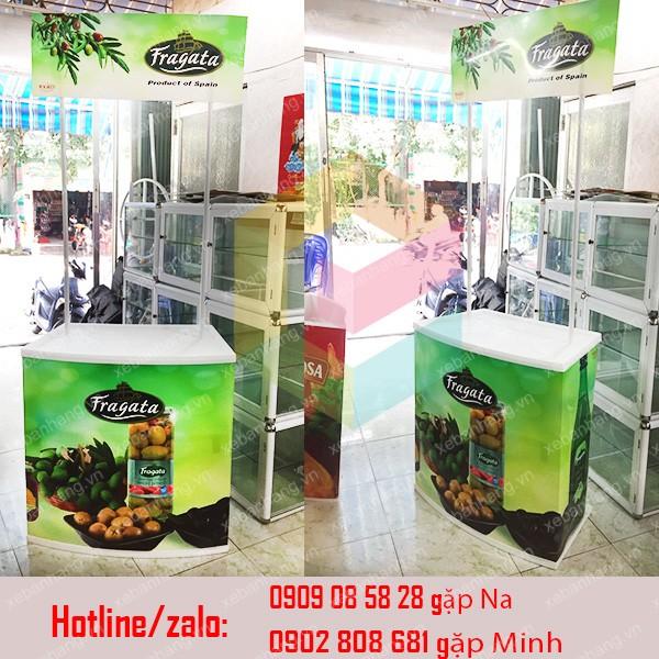 booth ban hang di dong nhua