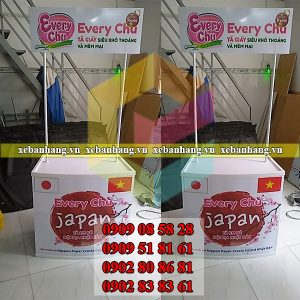 booth mini quang cao san pham dep