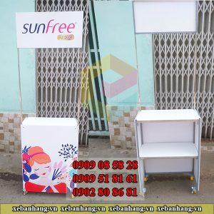 booth design trung bay san pham
